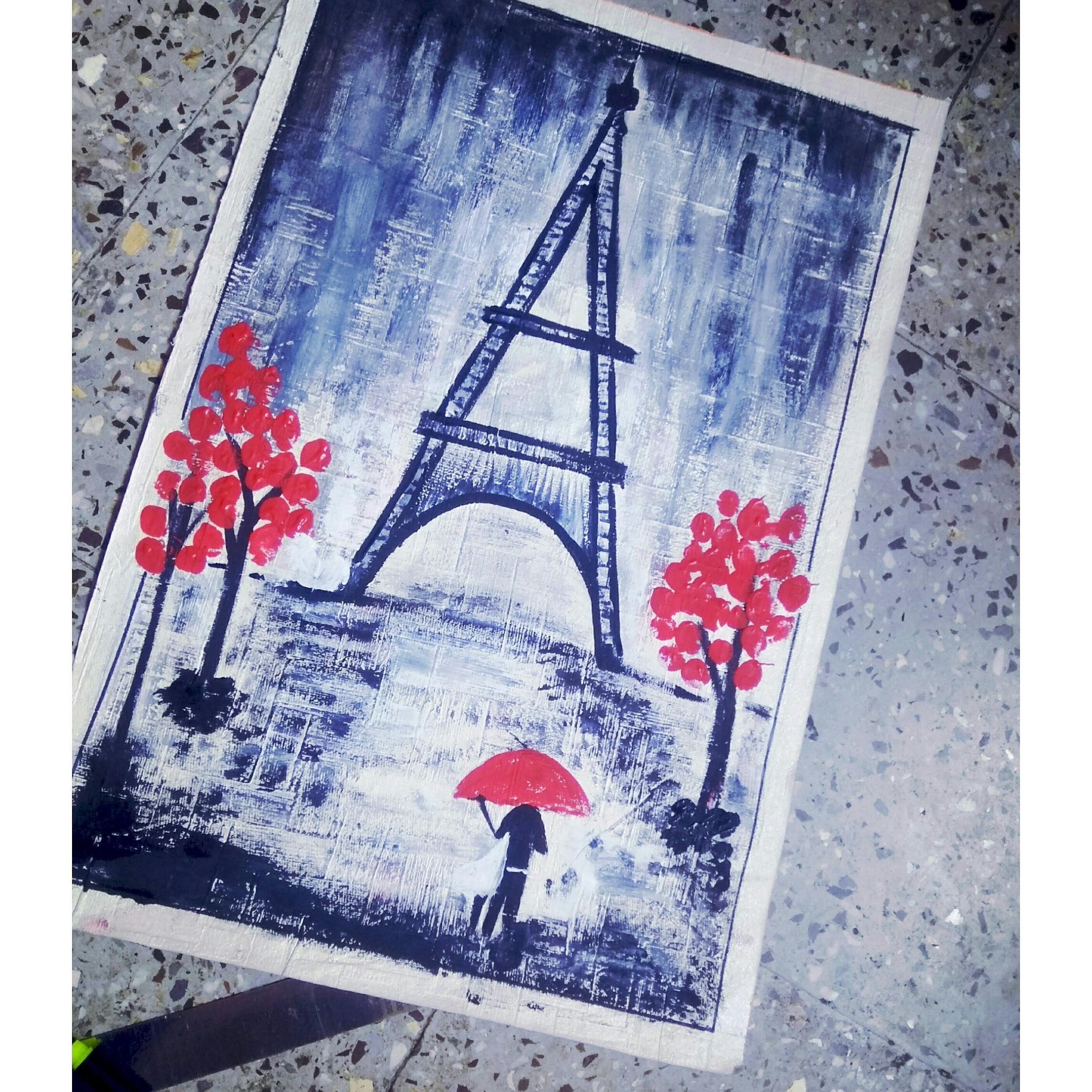 Peace Of Love Eiffel Tower Fine Art