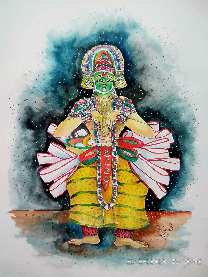 Watercolor Painting  Fine Art by Roshan Bobby