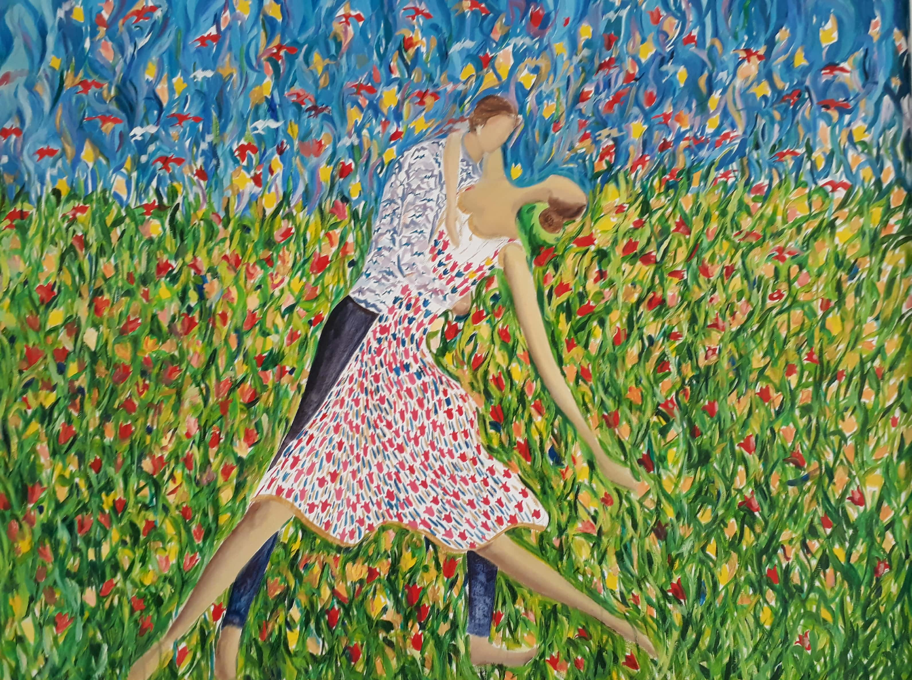 Dance Among Tulips Fine Art