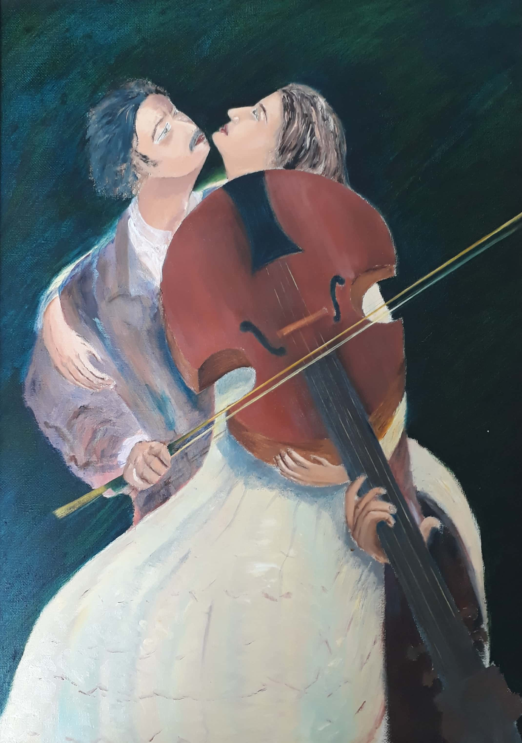 Romance Between The Strings And Bow Fine Art