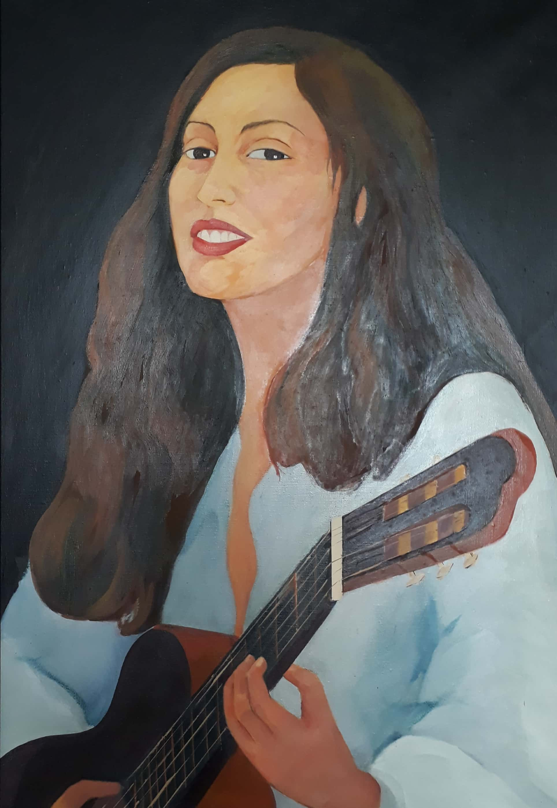 Guitarist 2 Fine art
