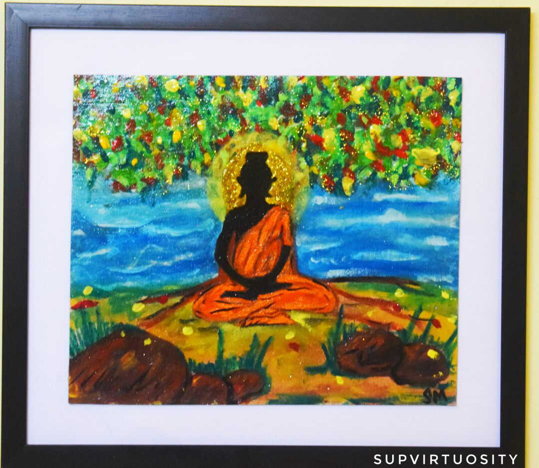 Acrylics Canvas Artwork - Buddha Theme Fine Art