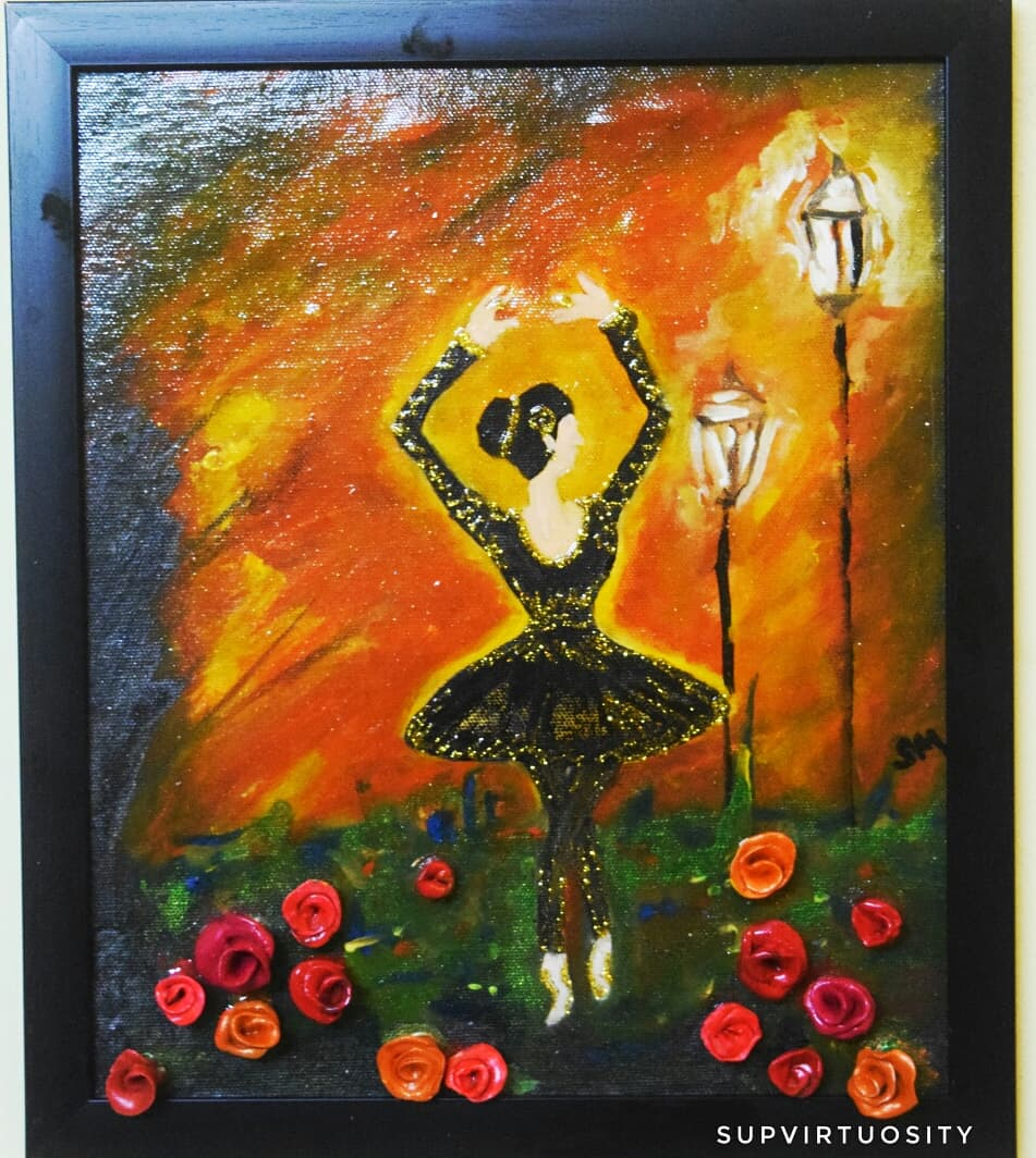 Ballet Dancing Girl Theme  Stage Performance Fine Art