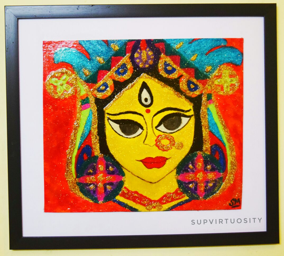 Durga Goddess- Hinduism- Bengali Culture- Indian Festival Fine Art