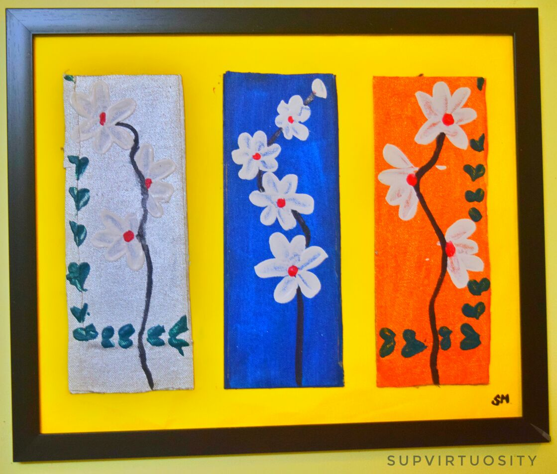Flowers -knife Painting- Multicolour Fine Art