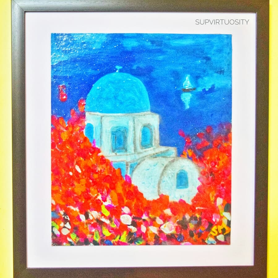 `Greece Theme- Blue Waters Fine Art by SUPARNA MAITI