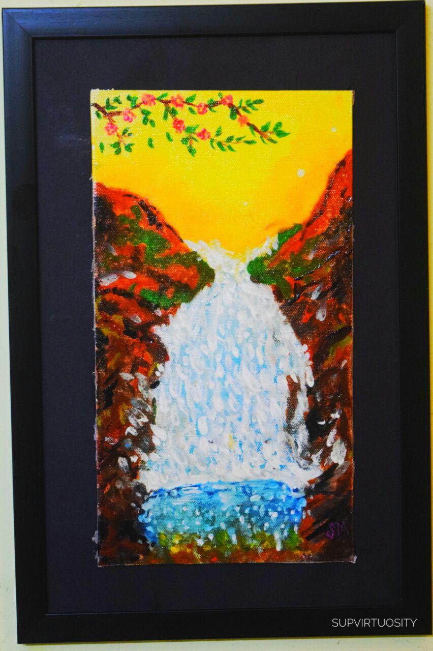 Waterfall-water-nature Fine Art