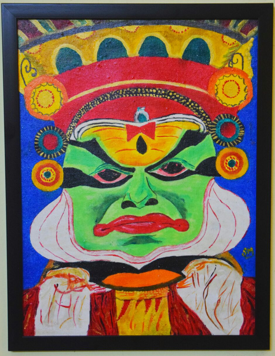 South India Culture-Kerala Dance-Kathakali-male Version Fine Art