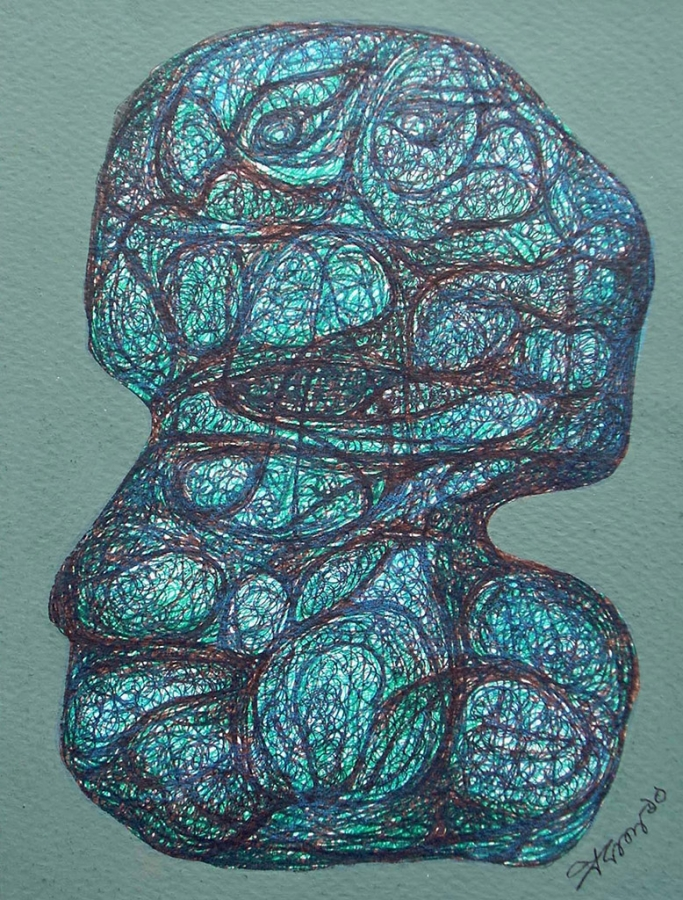 Realization I Fabric Art
