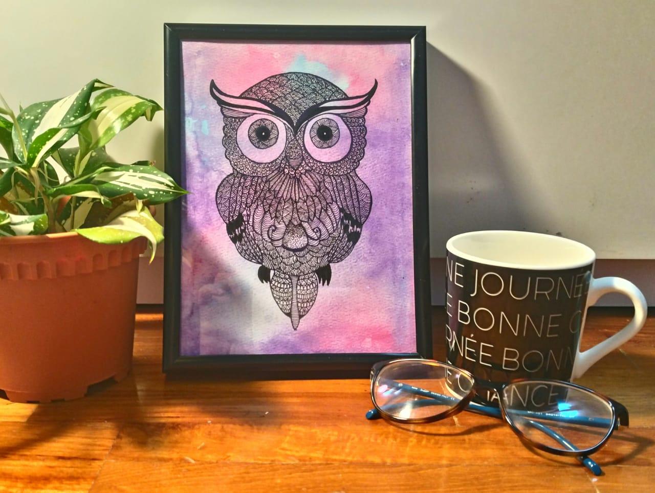 Owl Doodle Fine Art