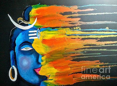 Mahadev Abstract Painting