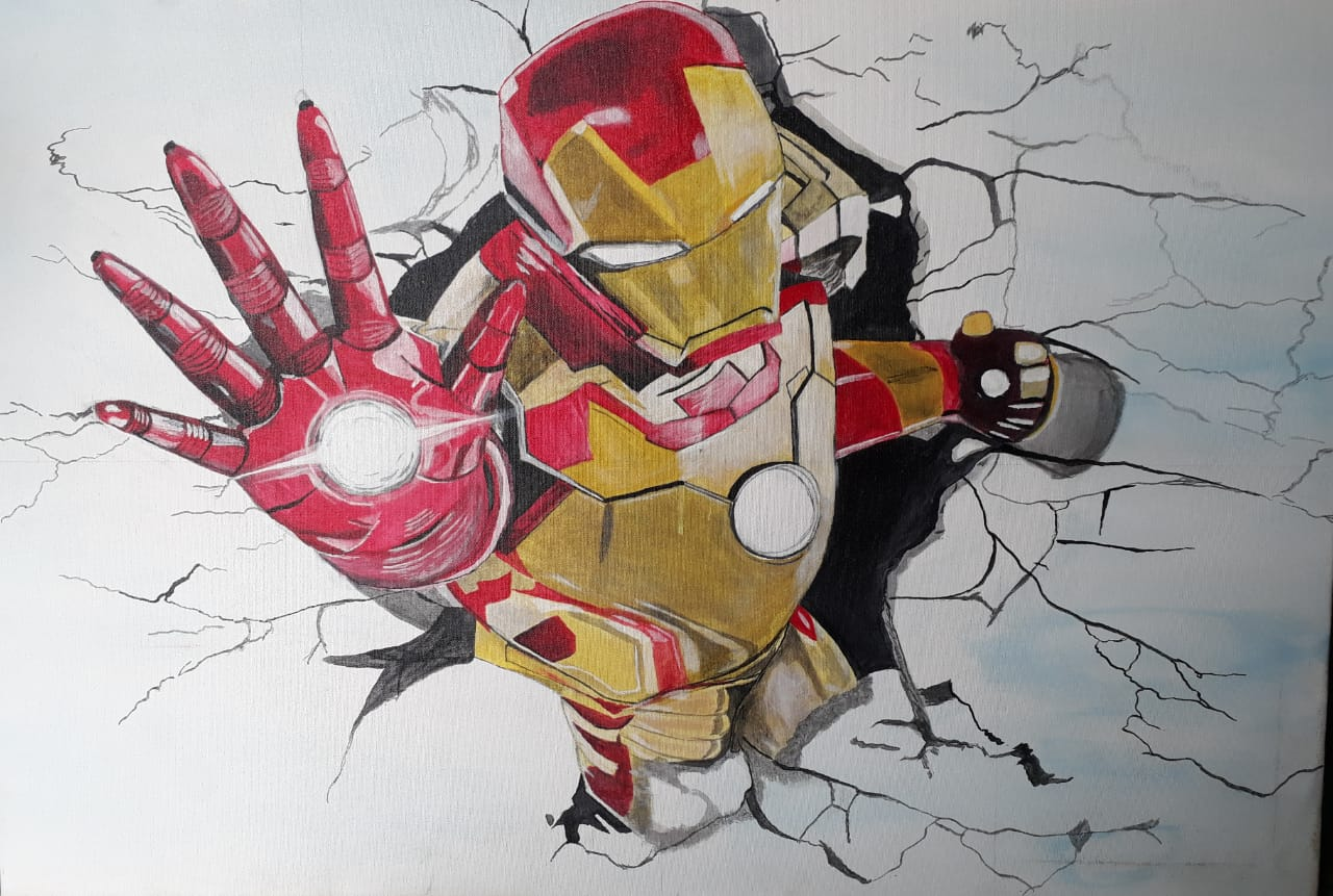 3D Iron man Painting Fine Art