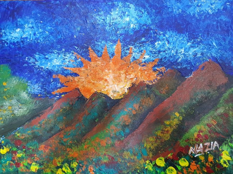 Mesmerising Sunset Acrylic Fine Art