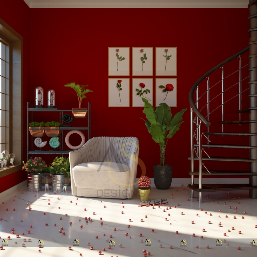 Red Room Digital Art by Anjali Singh