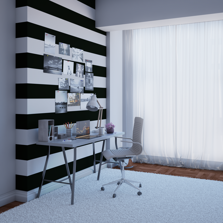 Striped Wall Corner Digital art