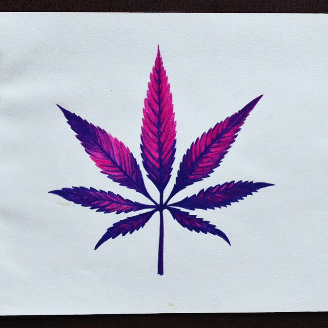 Weed Leaf Painting  Fine Art
