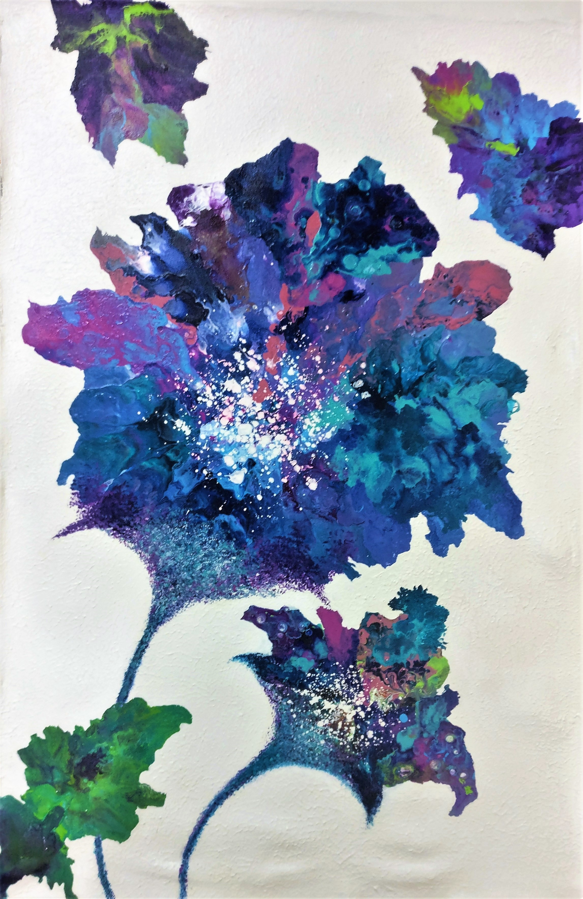 Floral Abstract Painting Fine Art