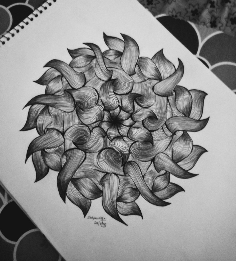 Mandala Design with Graphite Pen Fine Art