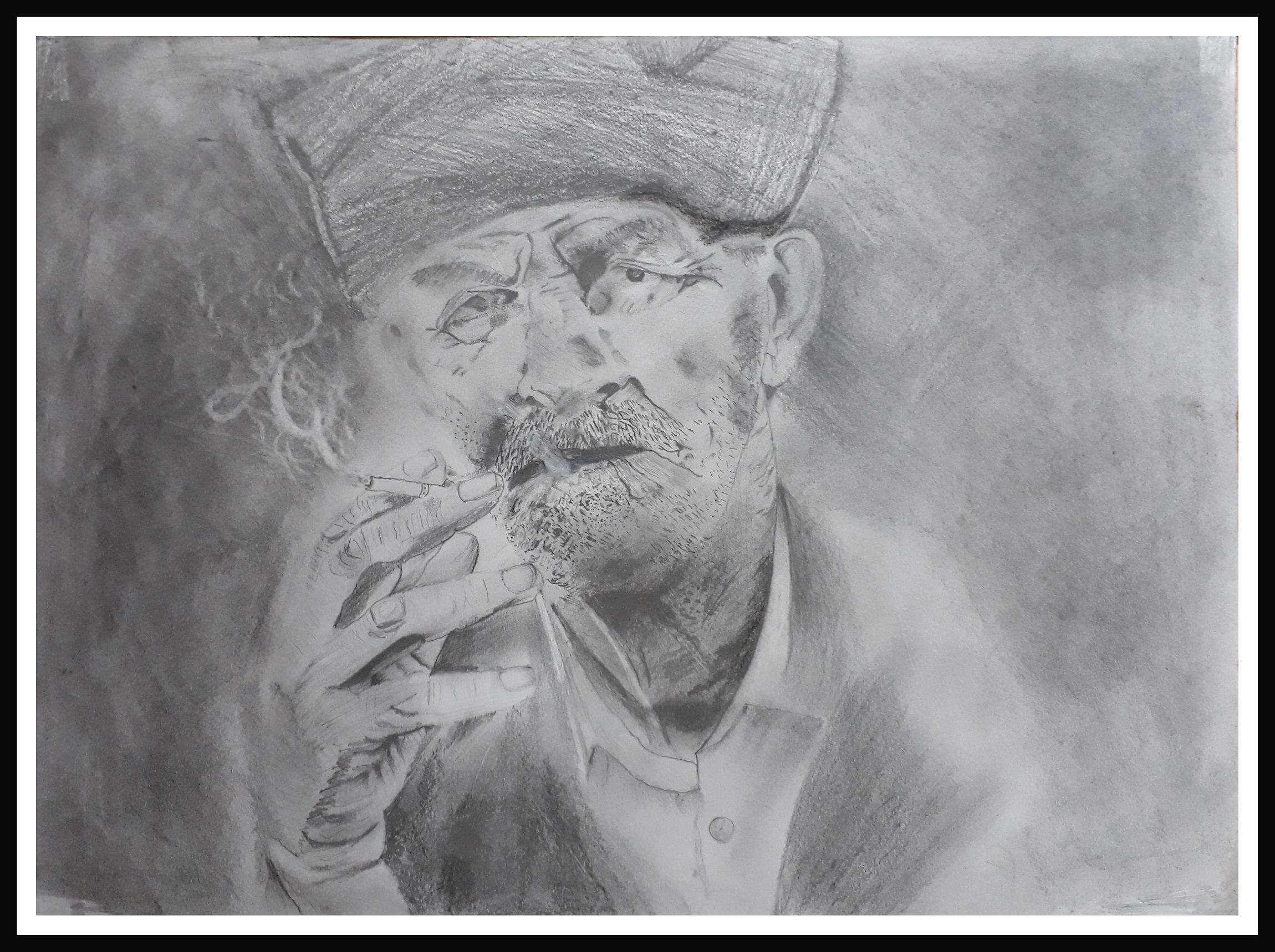 Attitude pencil sketch by vikram chopde drawing fine art for sell