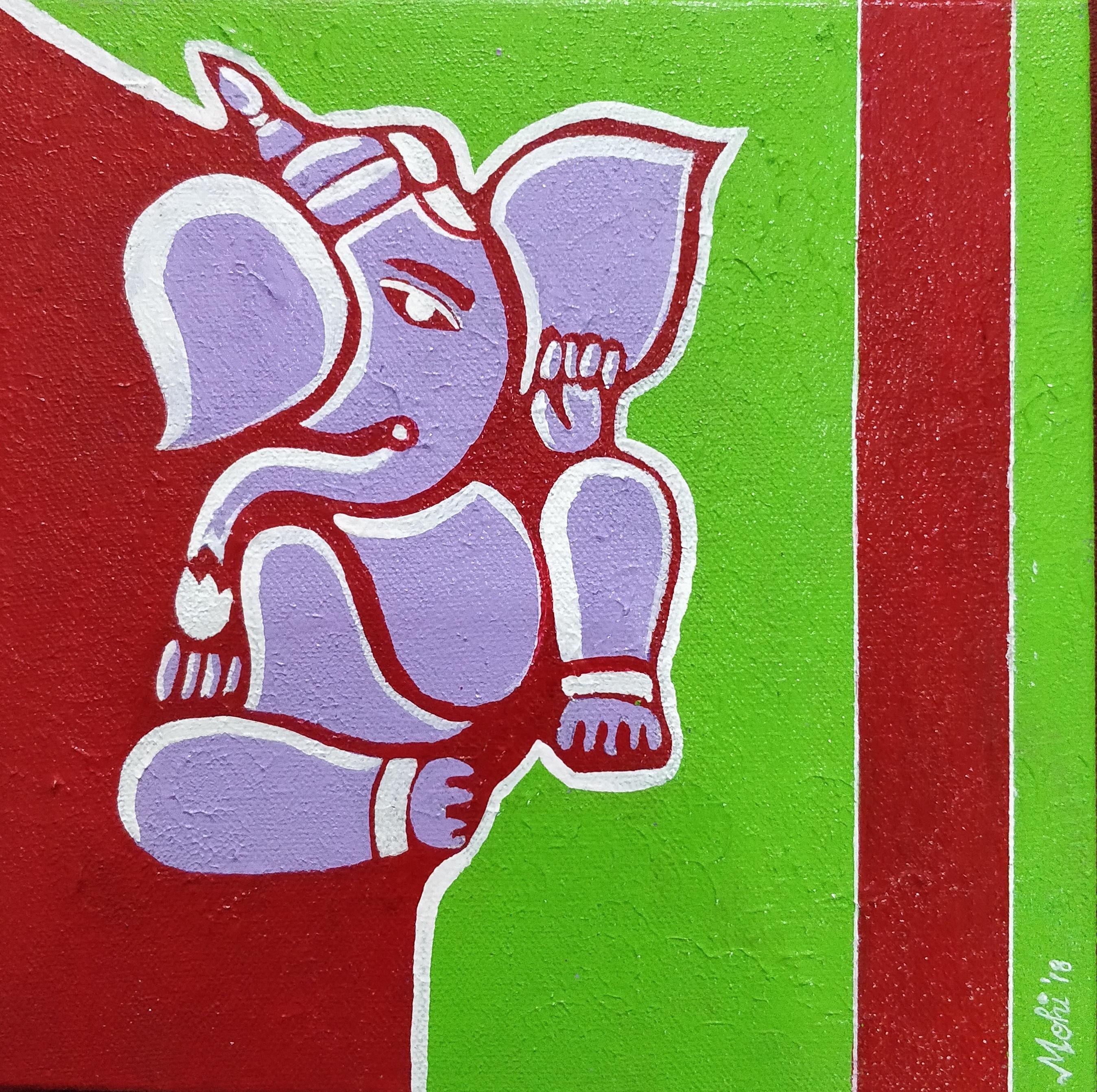 Vighnaharta: Ganesha Painting   Fine Art