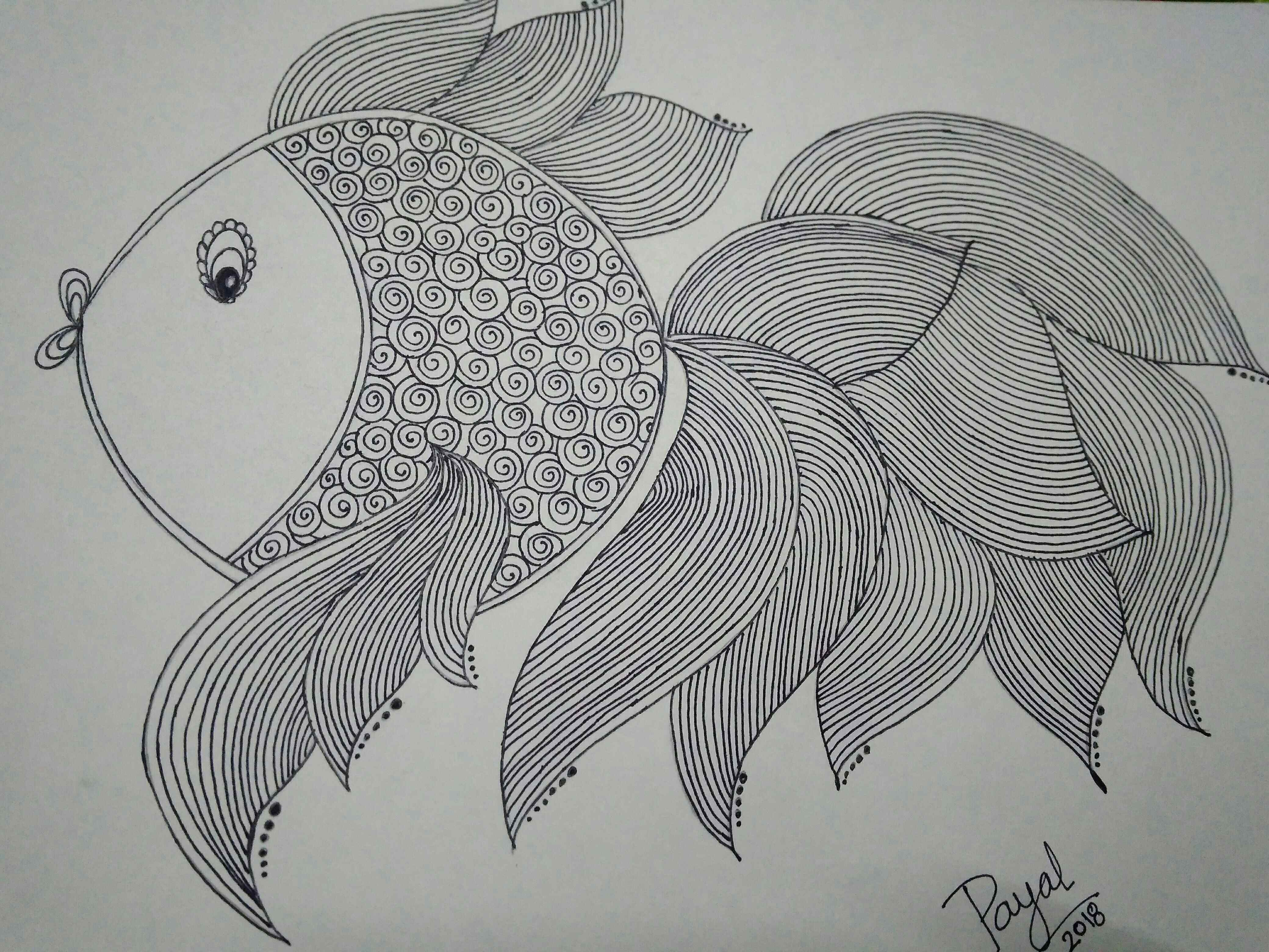 Doodle Art Design Of Fish