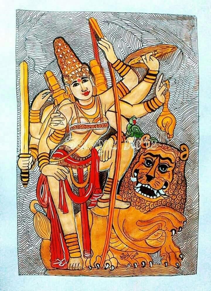MahishasuraMardini Painting Fine Art