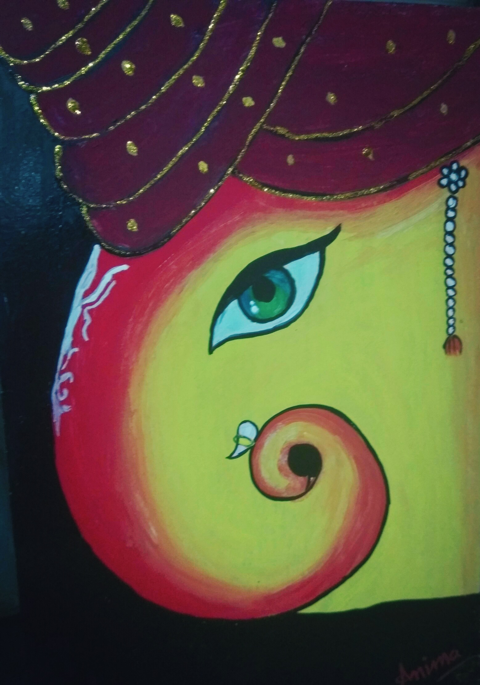 Ganesha Fine Art  by Anima Sinha