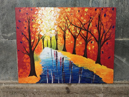 Water Reflection Landscape Painting Fine Art