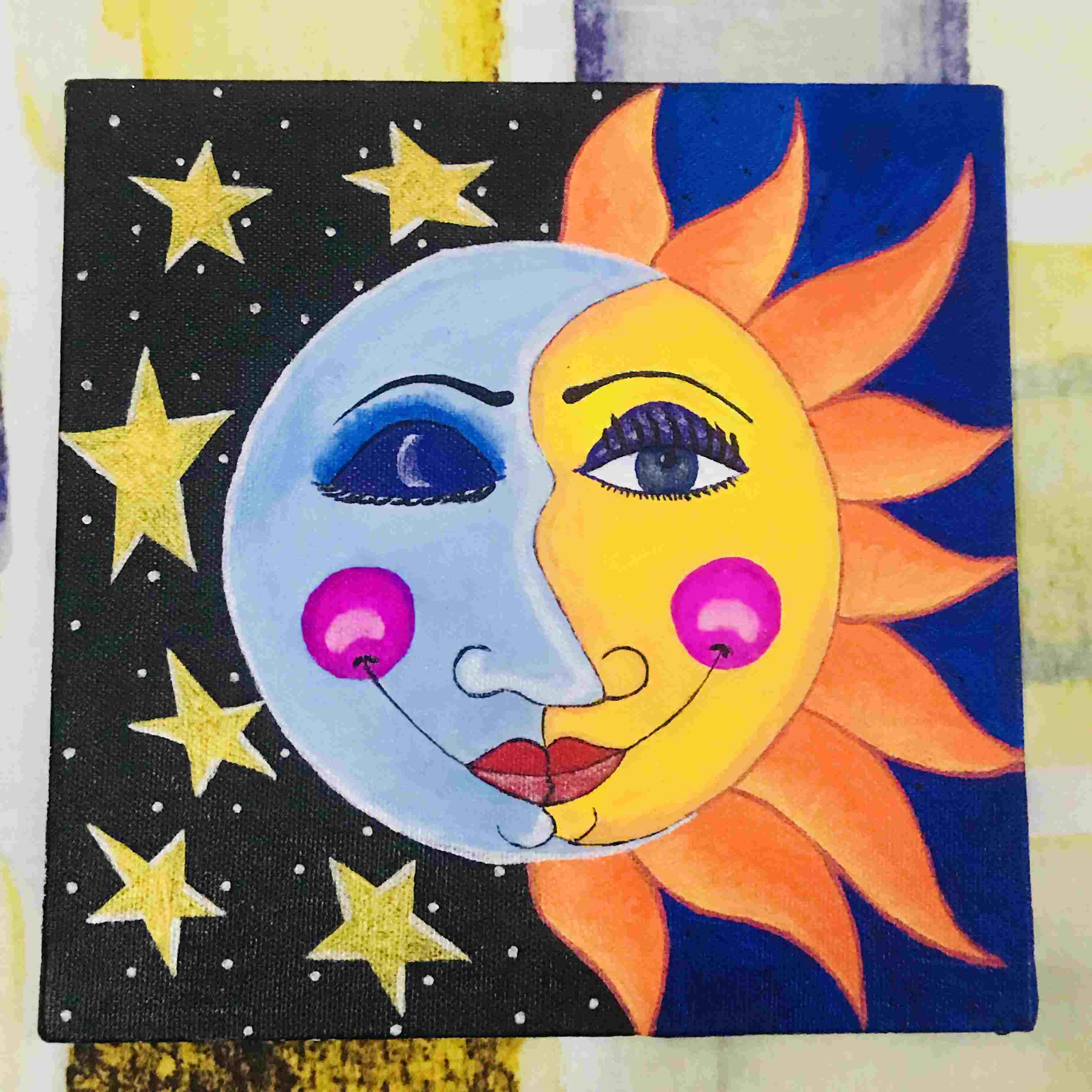 Abstract Sun Moon And Balance Fine Art
