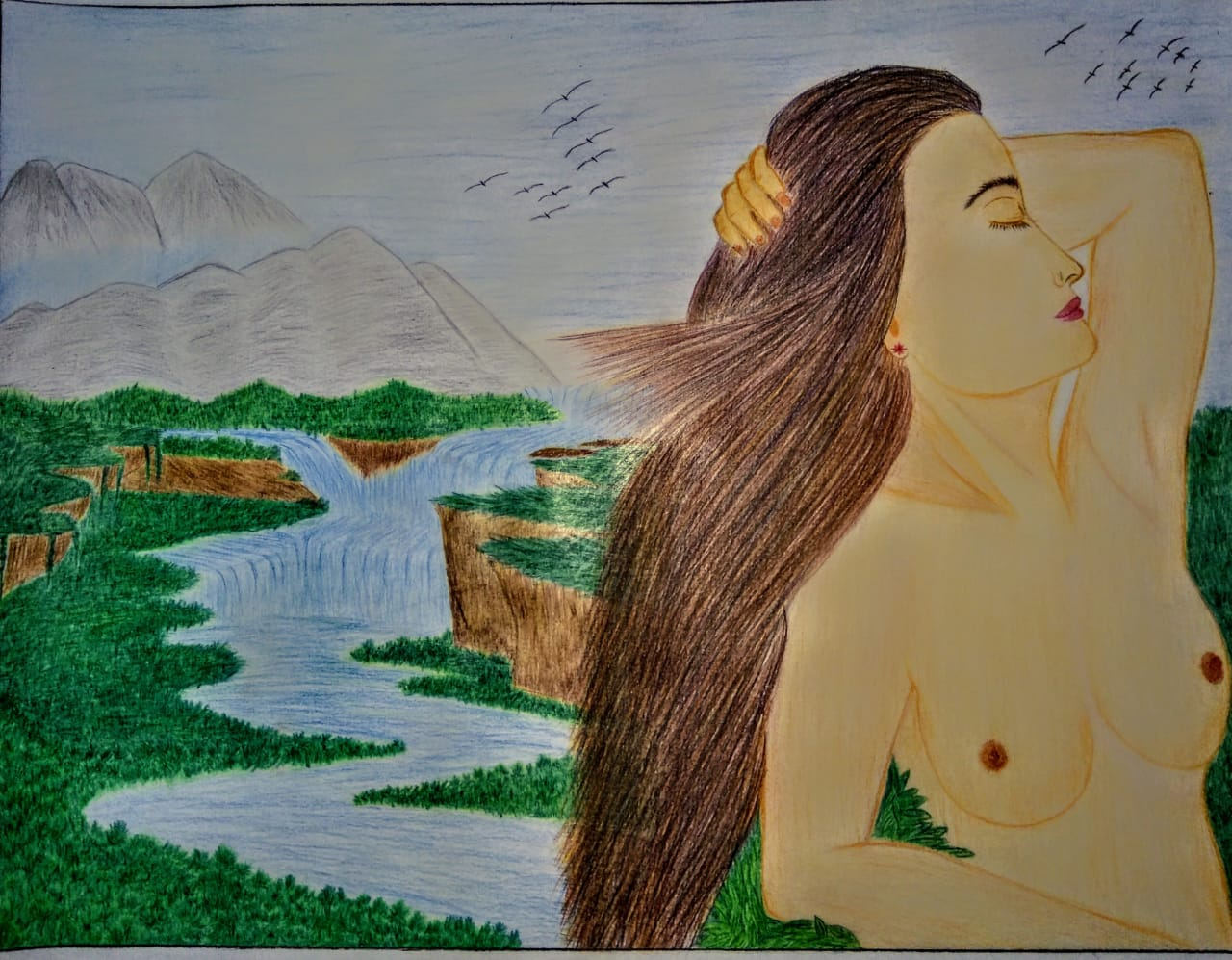 Nude Female With Nature Theme  Fine Art