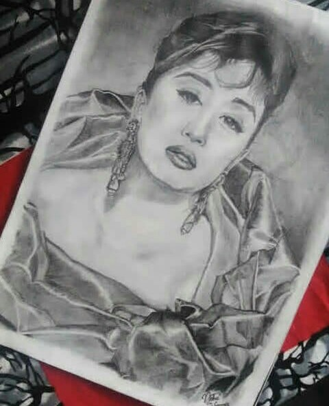Pencil Sketch A Lady Fine Art