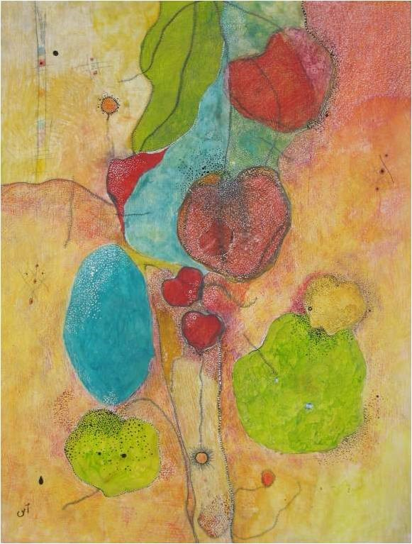 Green Apple by Ufaq Ehsan Fine Art