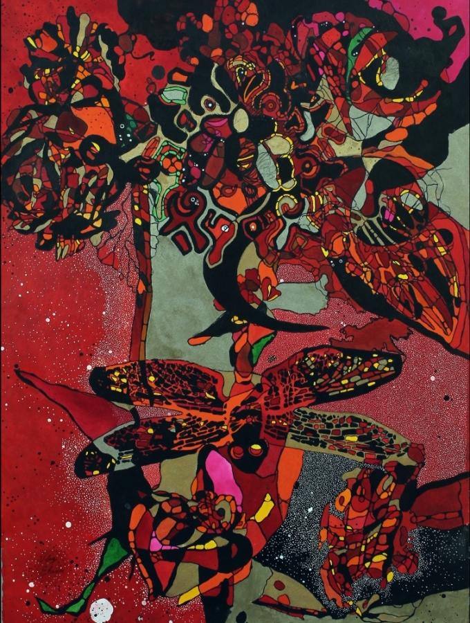 Red the rebirth 1 by Ufaq Fine Art