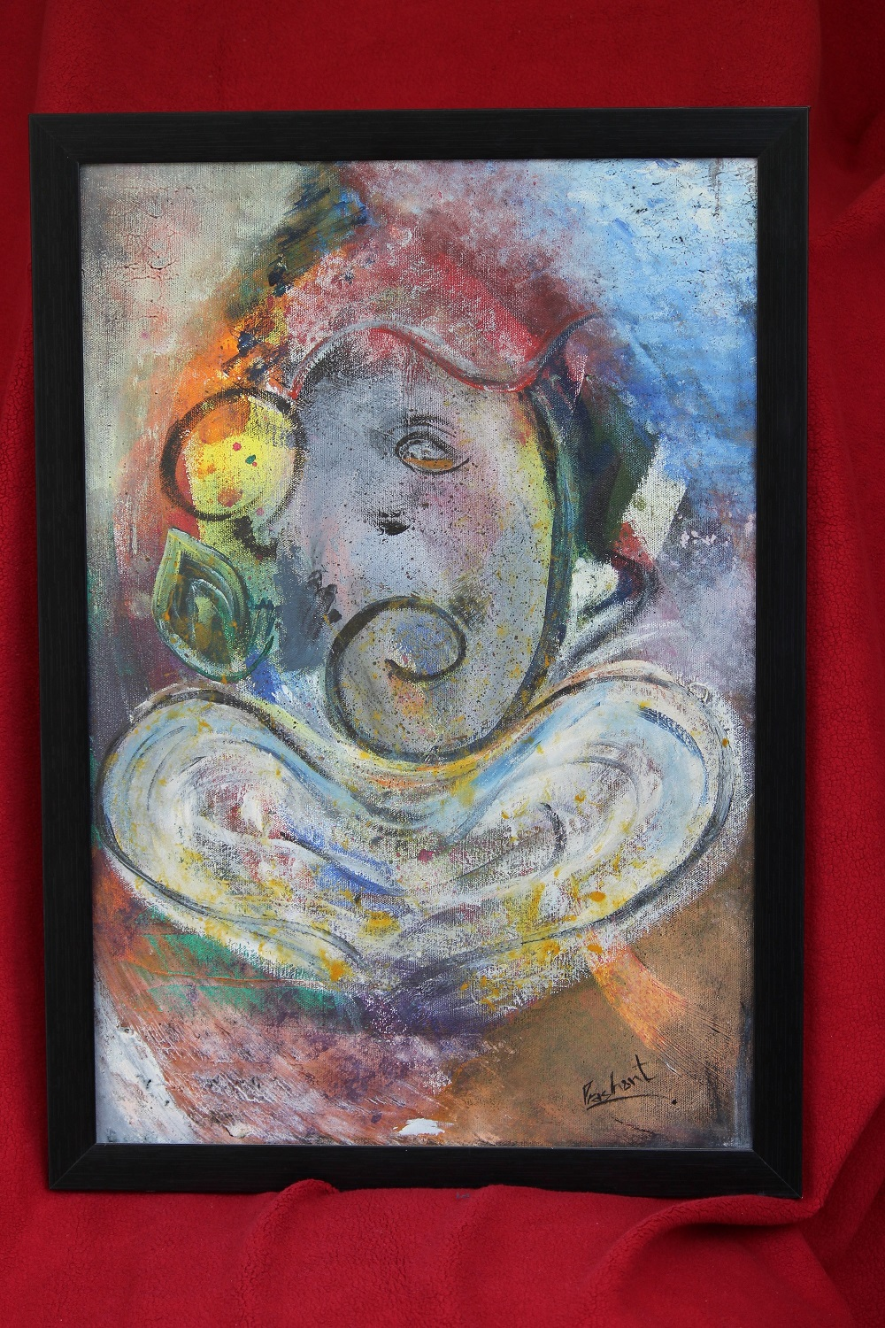 Ganesha Painting Fine Art by Prashant Sharma