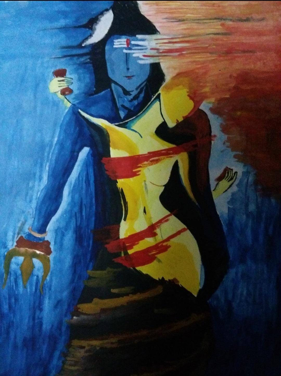 Shiva Parvati Painting Fine Art