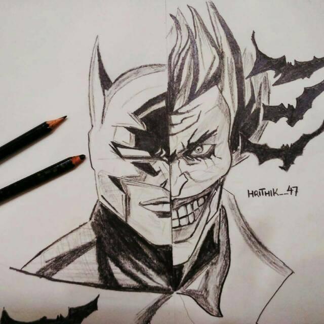 Batman And The Joker Digital Art