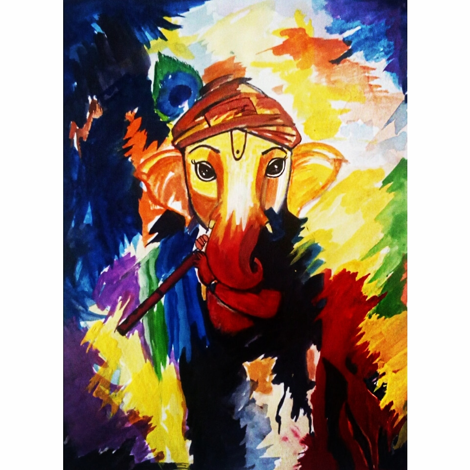 Lord Ganesha Painting For Sale Fine Art