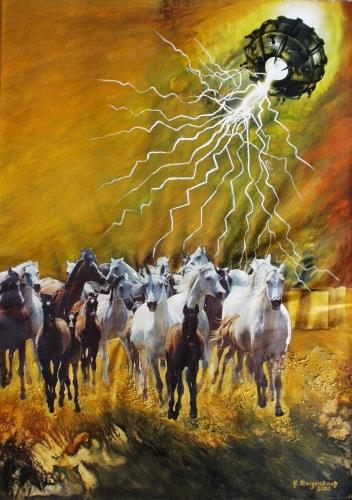 Gallopping Horse He Fine Art