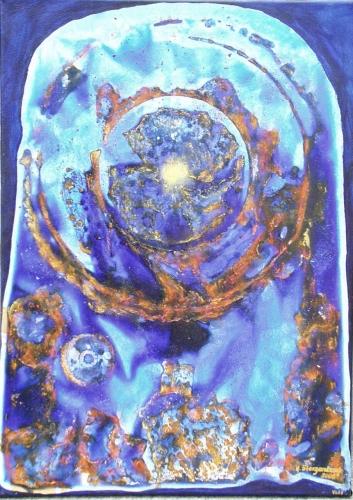 Planet in Blue Fine Art
