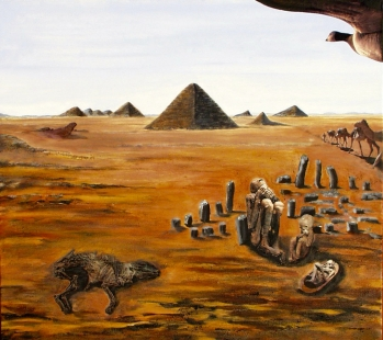 Desert with Mummies Fine Art