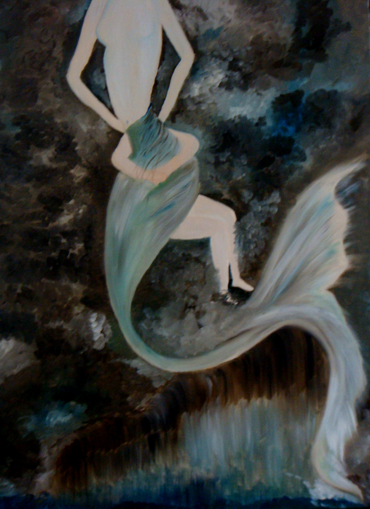 Mermaid Painting Fine Art by Navkirat Sodhi