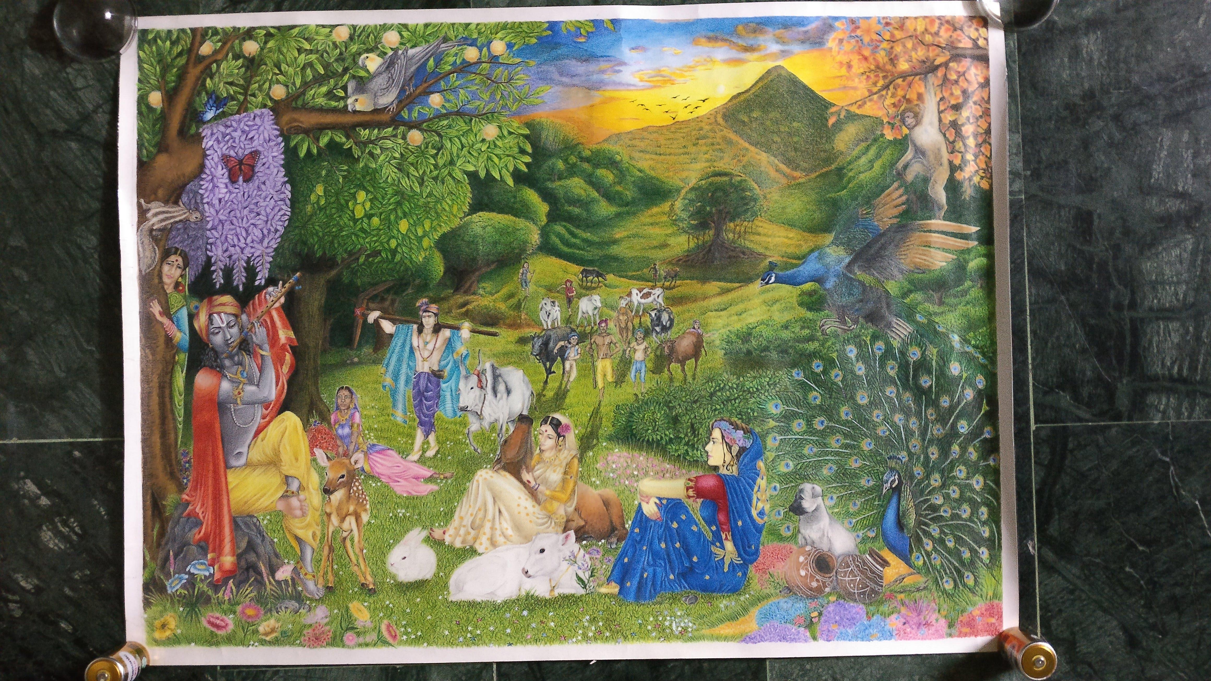 Krishna Pastime Fine Art