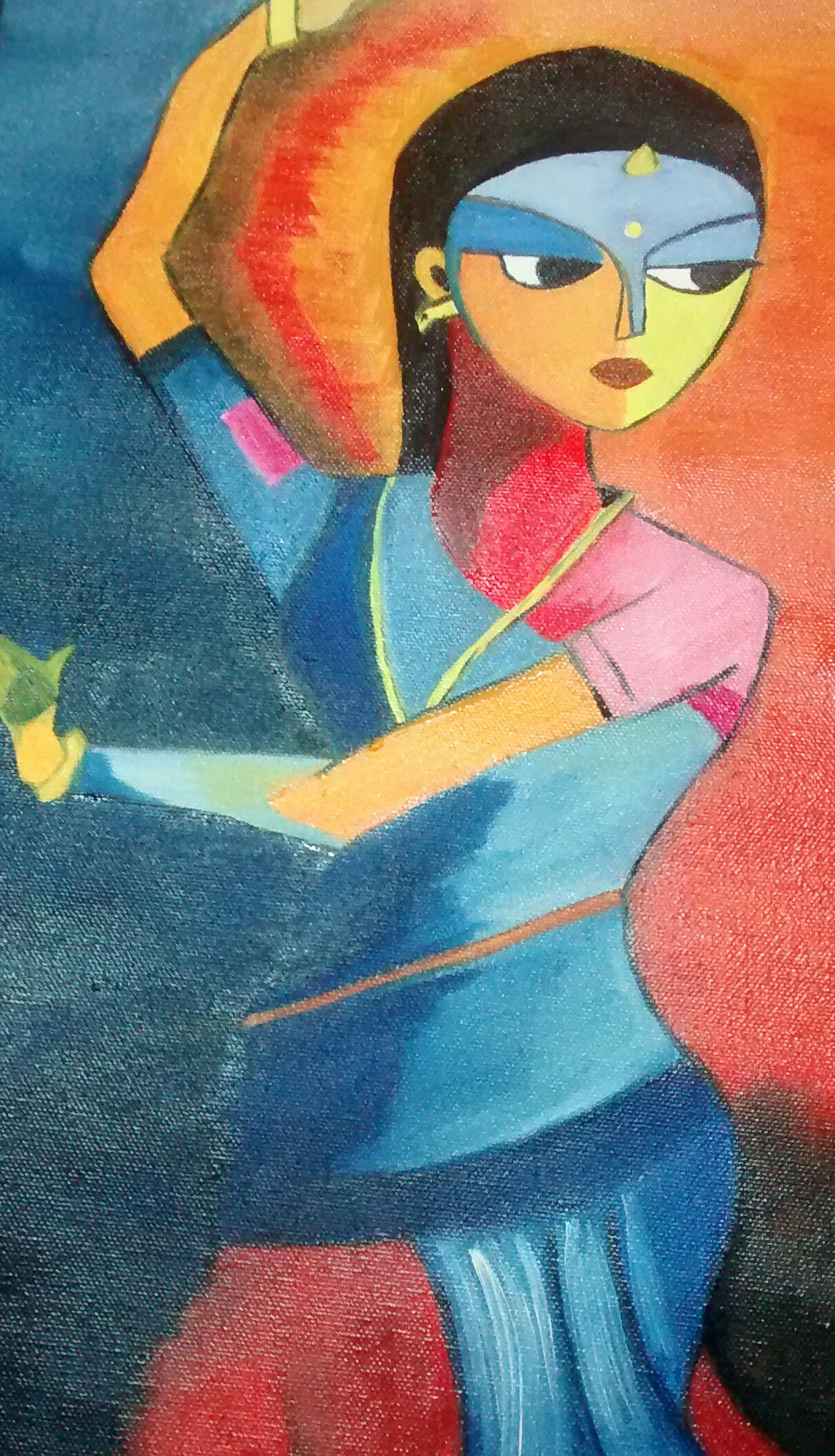 Dancing Lady Canvas Oil Painting
