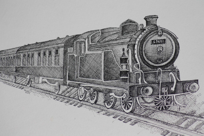 Vintage Train 1 Fine Art