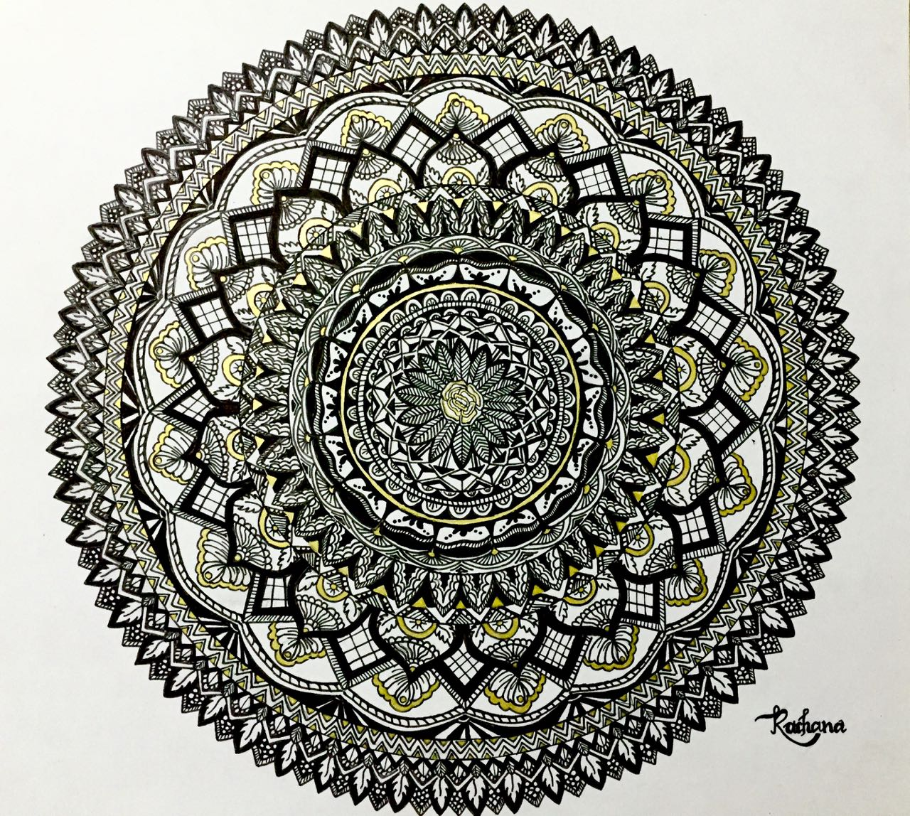 Zentangle Mandala Fine Art