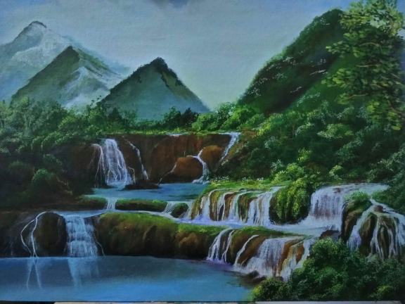 Waterfall Painting Fine Art