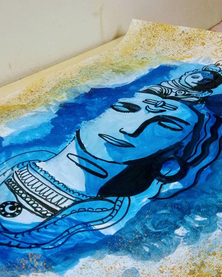 Shiva Painting Fine Art by Prachi Mishra