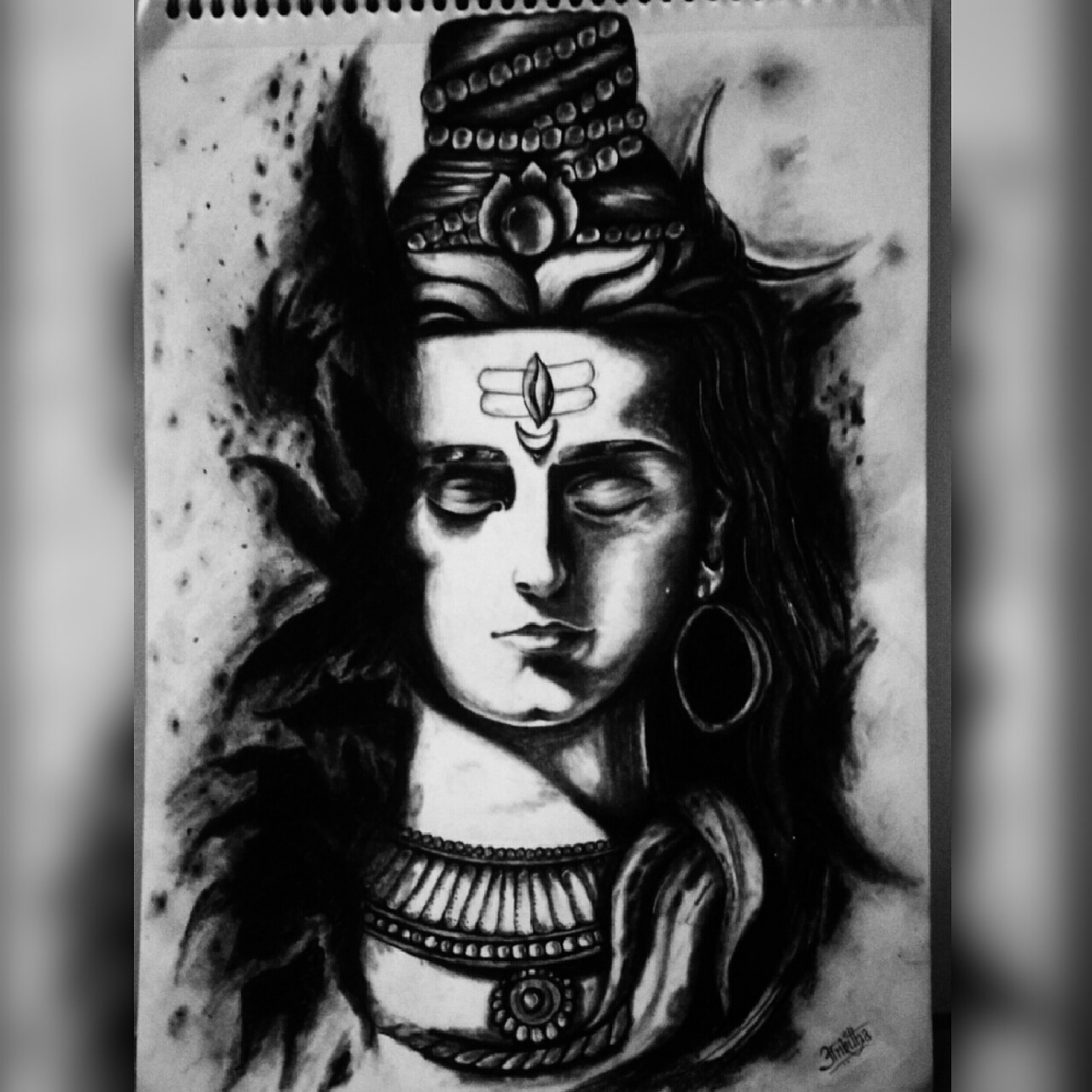 Shiva Drawing By Ankitha B R, Drawing Fine Art for Sell