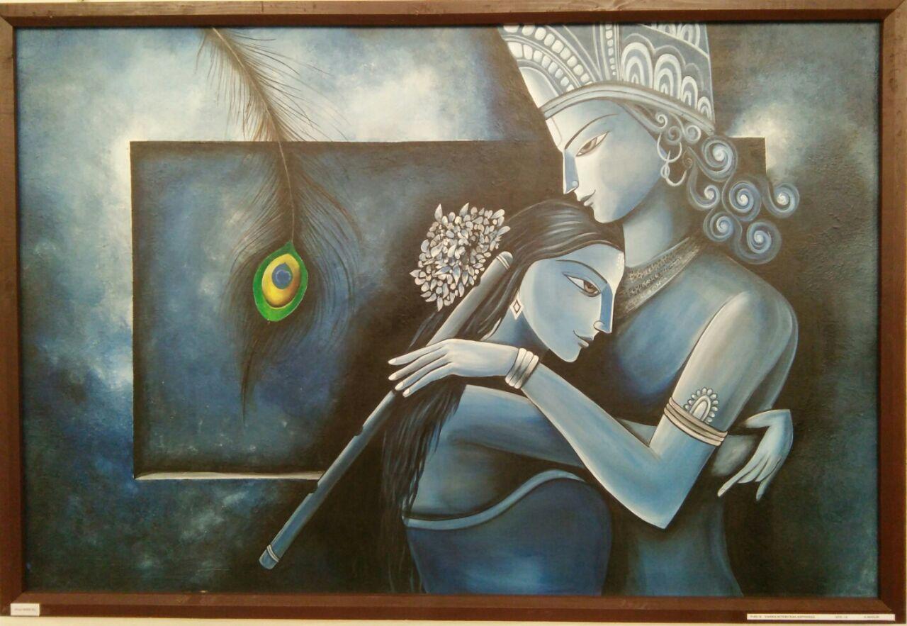 Radha Krishna Acrylic Painting