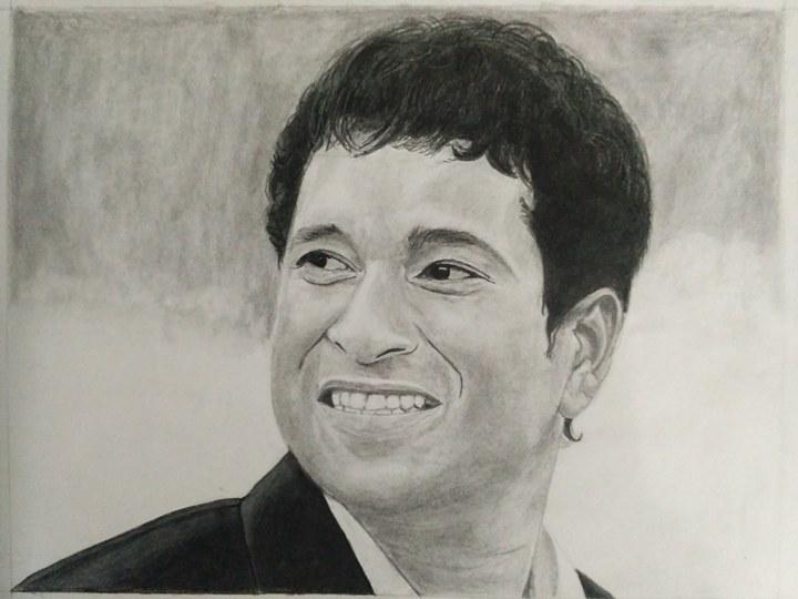 Sachin Tendulkar Sketch Fine Art